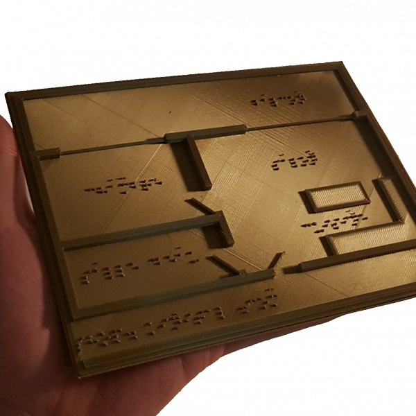 Carte de plan immobilier en Braille Kinital® Shop.Kinital.com
