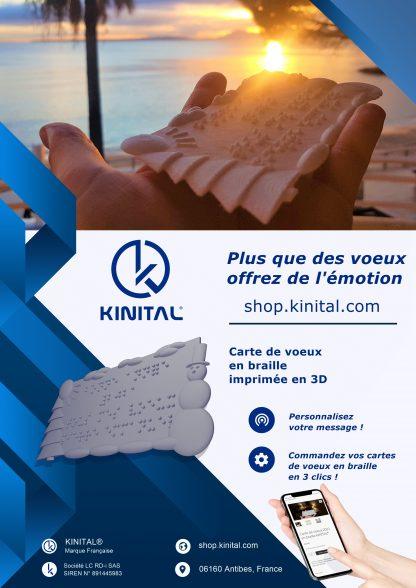 Flyers carte de voeux en Braille Kinital® Shop.Kinital.com
