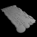Carte de voeux en Braille imprimée en 3D Kinital® Shop.Kinital.com